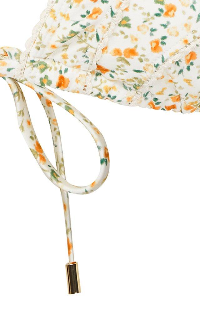 Floral String Bikini Top