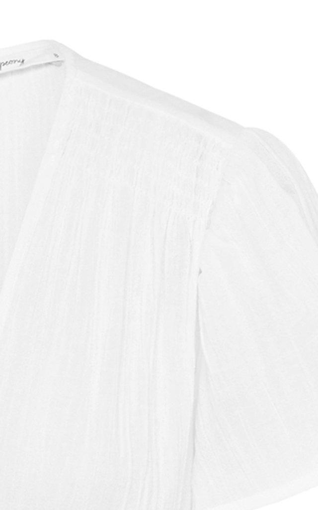 Vacation Button-Front Linen Midi Dress
