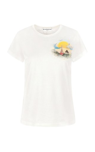 Fitted Logo-Print Cotton T-Shirt