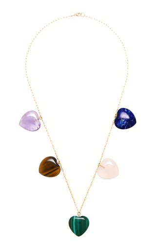 Multi-Stone 18K Yellow Gold Necklace