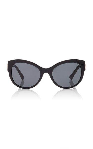Safety-Pin Cat-Eye Acetate Sunglasses