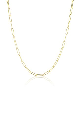 18K Yellow Gold Paperclip Link Chain