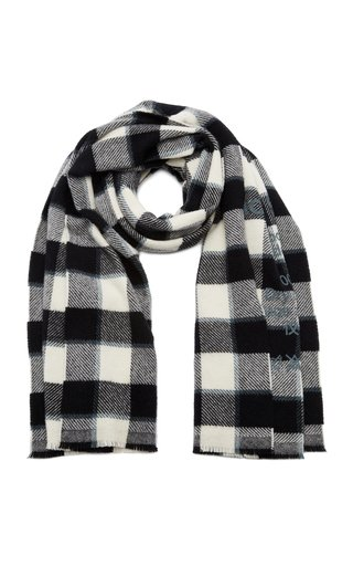 Cassiar Oversized Checked Wool Scarf