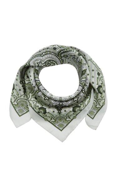 Valisa Paisley-Printed Silk Scarf