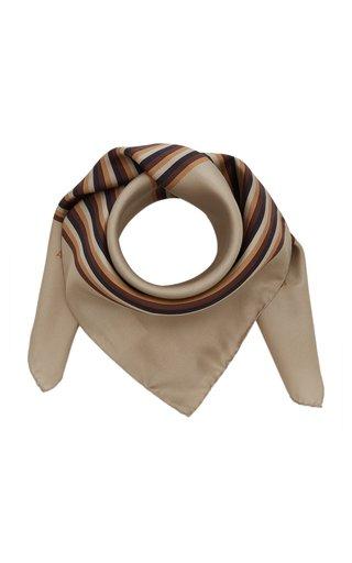 Velma Striped Silk Scarf