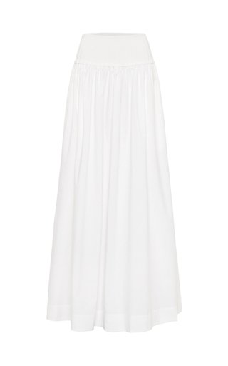 Ribbed Cotton Maxi Skirt