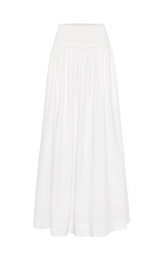 Ribbed Cotton Maxi Skirt