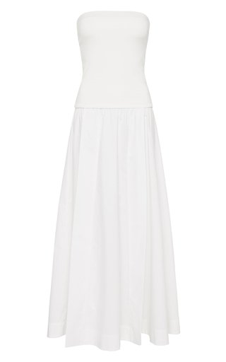 Strapless Cotton Knit Dress
