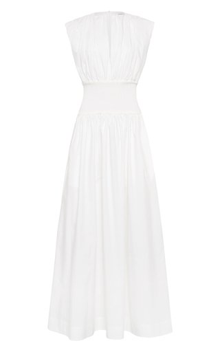 Ribbed Cotton Maxi Dress