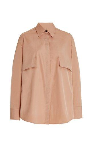 Pocket-Detailed Cotton Poplin Shirt