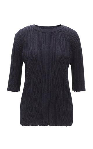 Wrinkle-Knit Cotton-Blend Top