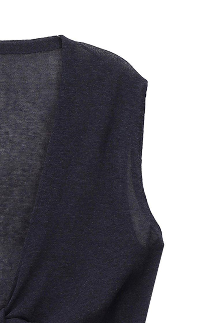 Sheer-Knit Cotton-Blend Top