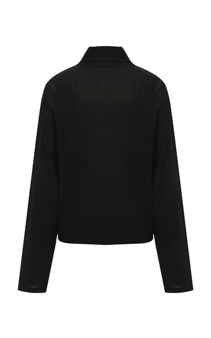Layered-Effect Knit Top