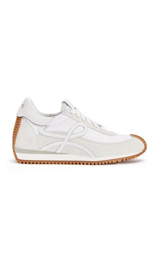 Flow Runner Suede and Nylon Sneakers
