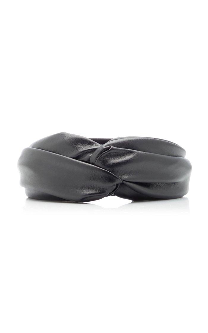 Twist Vegan Leather Headband