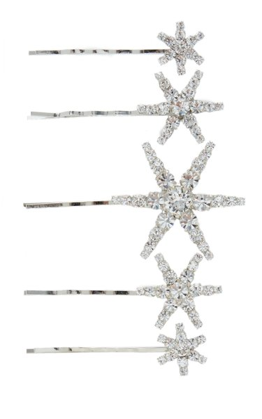 Vespera Set-Of-Five Crystal Bobby Pins