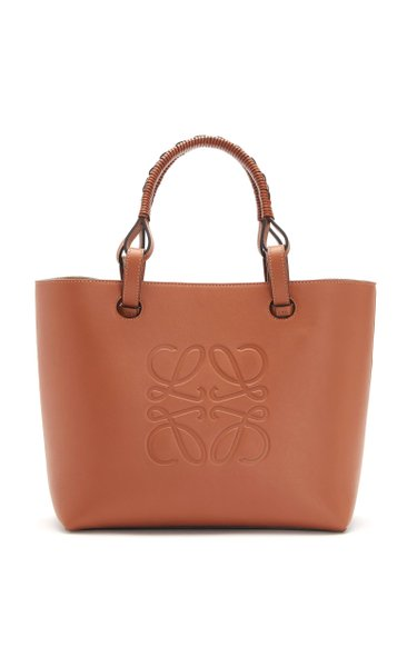Anagram-Stamped Leather Tote Bag