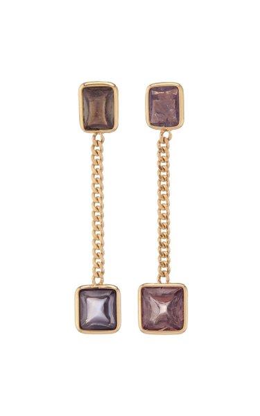 Curb Chain Sapphire Earrings