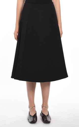A-Line Structured Midi Skirt