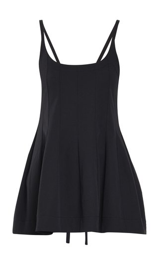 Cotton-Blend Flared Tank Top