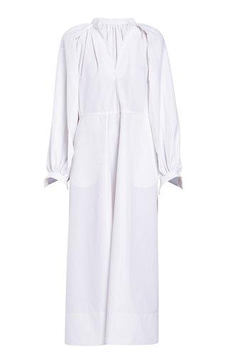 Wide Sleeve Cotton Midi Dress