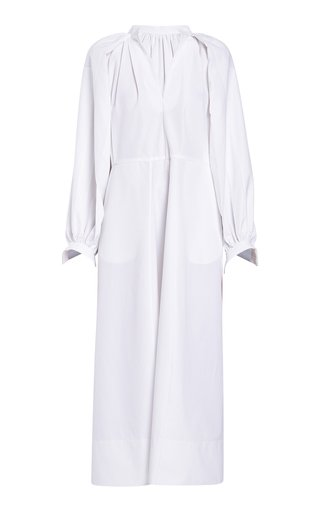 Wide Sleeve Cotton Midi Dress