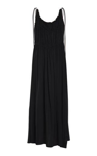 Scoop Neck Relaxed Sleeveless Midi Dress