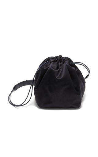 Small Leather Drawstring Shoulder Bag