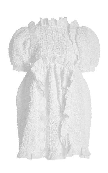 Lotta Smocked Cotton-Blend Dress