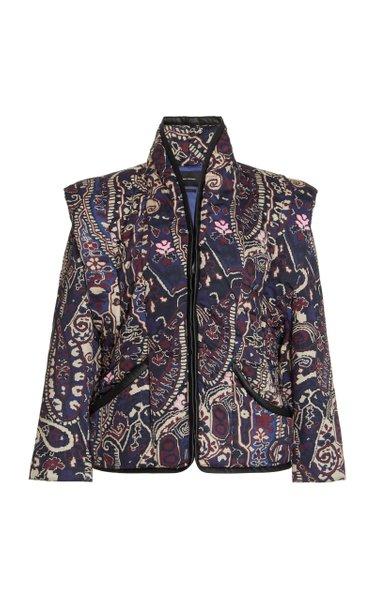 Janissa Printed Cotton-Blend Jacket
