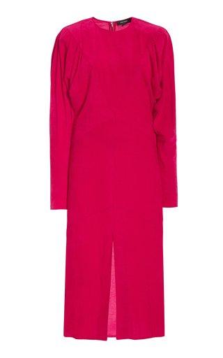 Venia Pleated Velvet Dress