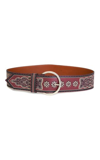 Painted Leather Waist Belt