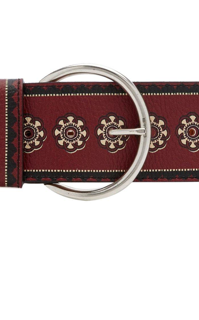 Painted Leather Waist Belt