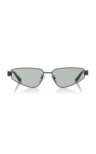 Square-Frame Metal Sunglasses