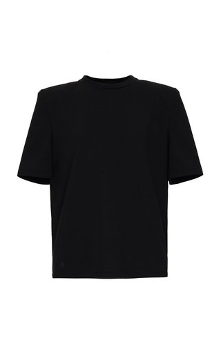 Padded-Shoulder Jersey T-Shirt