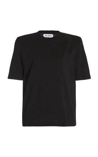Padded-Shoulder Jersey T-Shirt
