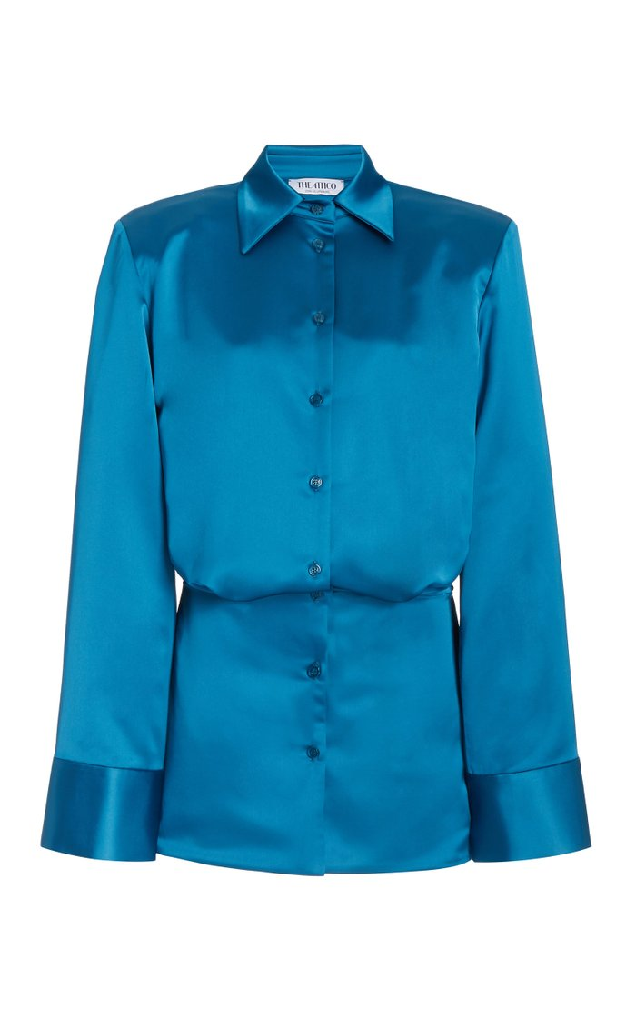 Poplin Mini Shirt Dress