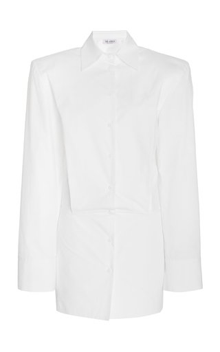 Cotton Poplin Mini Shirt Dress