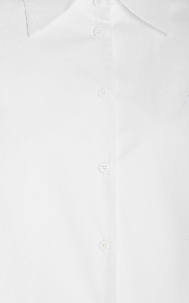 Cotton Poplin Mini Shirt Dress