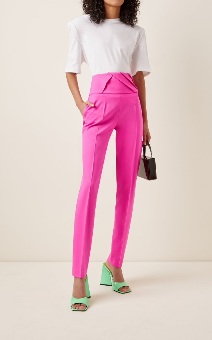 Crepe Straight-Leg Suit Trousers