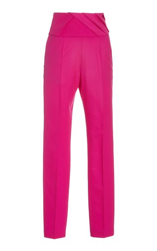 Crepe Straight-Leg Suit Trousers