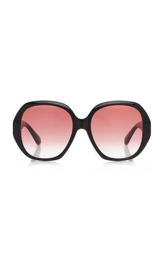 Oversized Round-Frame Acetate Sunglasses