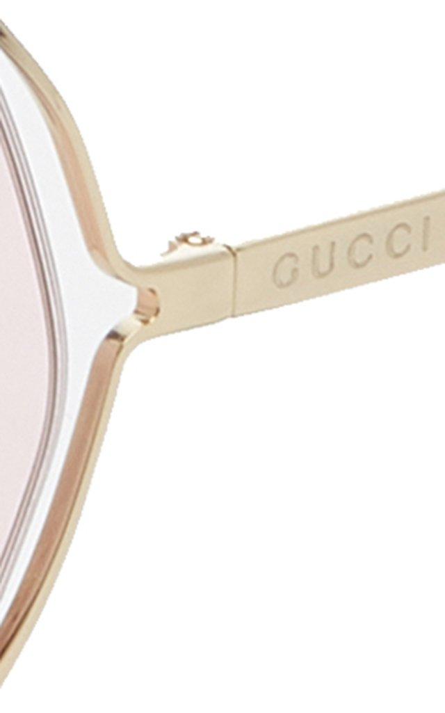 Hexagon-Frame Metal Sunglasses