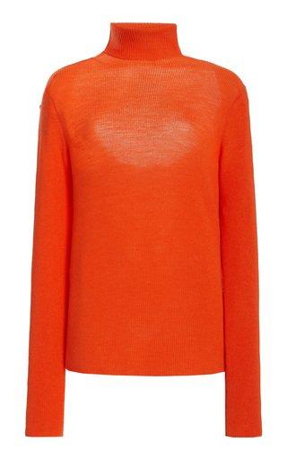 Wool Knit Turtleneck Sweater