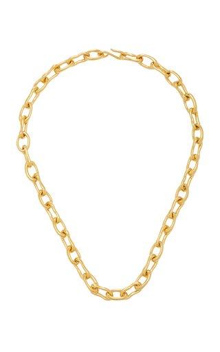 Small 18k Gold Vermeil Roman Chain Necklace