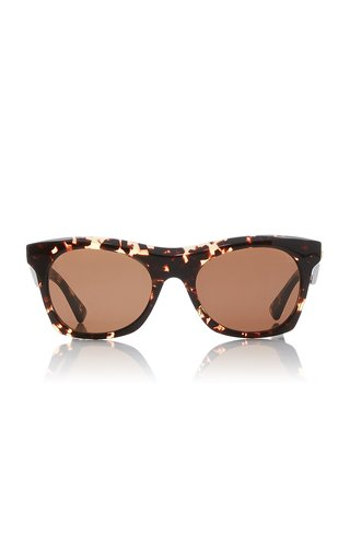 Oversized Tortoiseshell Acetate Square-Frame Sunglasses