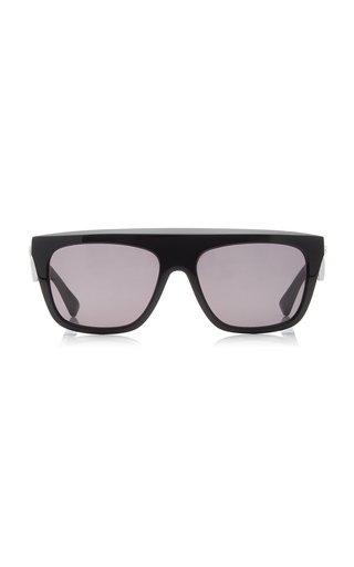 Acetate Flat-Top Square-Frame Sunglasses