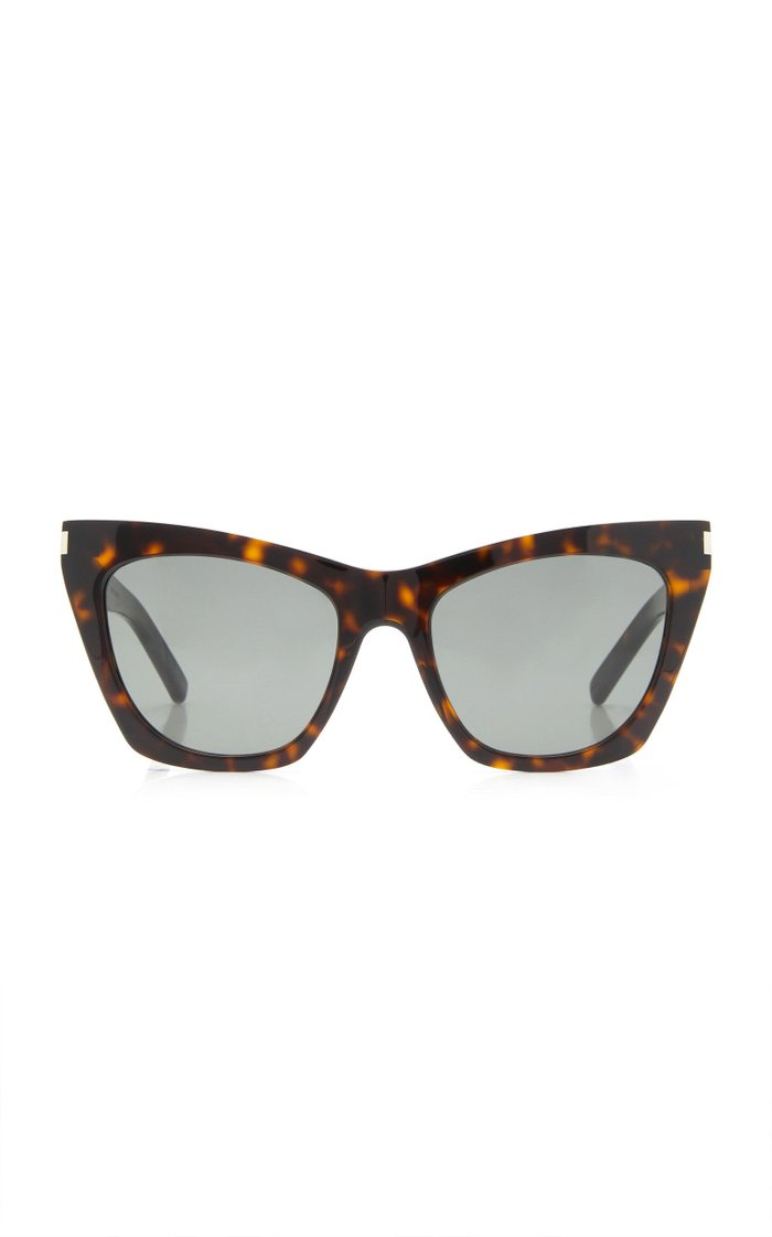 Kate Oversized Cat-Eye Tortoiseshell Acetate Sunglasses