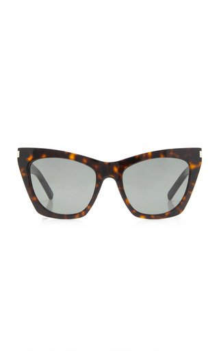 Kate Oversized Cat-Eye Tortoiseshell Acetate Sunglasses