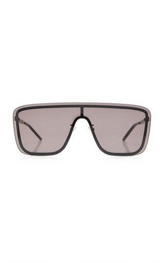 Mask D-Frame Metal Sunglasses